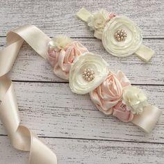 Free Shipping....Vintage Inspired Maternity/Flower/Bridal Sash Belt (USE CODE SHIPFREE)