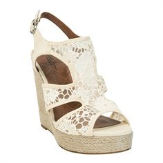 Lucky Brand Riedel Crochets Espadrille Wedge #VonMaur #LuckyBrand #Lace