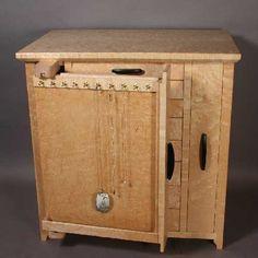 Birdu0027s Eye Maple Jewelry Cabinet