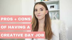 Today I'm sharing the Pros + Cons Of Having A Creative Day Job because as great as it is to have a creative day job, it still has some downsides that I think. Job Career, Career Advice, Job Advertisement, Marketing And Advertising, Ask For A Raise, Bad Boss, Johann Wolfgang Von Goethe, Interview Preparation, Job Work