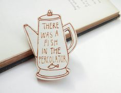 Twin Peaks Brooch  'Fish in the Percolator' by kateslittlestore, $11.00