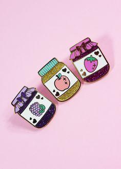 Blackberry Jam Hard Enamel Glitter Pin - Precious Preserves Series