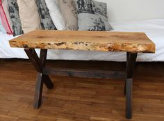 Old Wooden Coffee table. Cherry Wood 100 Hand Made by haubenart