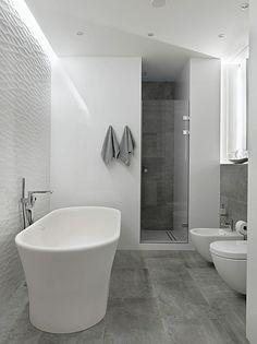 Alexander Nevsky St Apartment by Alexandra Fedorova. shower, tile, contemporary bathroom