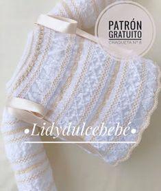 Lidy Dulce bebé. : Patrón gratuito 🧶 Chaqueta nº 8 🧶 Baby Knitting Patterns, Crochet Patterns, Crochet Baby, Knit Crochet, Girls Frock Design, Knit Baby Sweaters, Frocks For Girls, Baby Cardigan, Baby Wearing