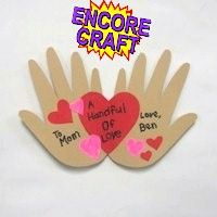 Hand Hearts #kids #valentine #heart #handprint #craft