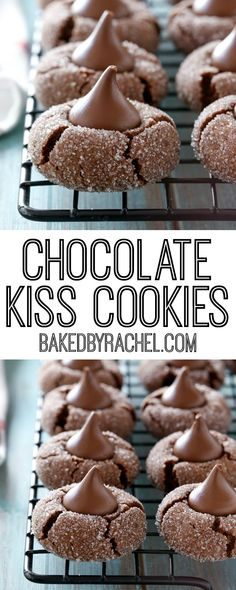Chocolate kiss cookie recipe from @bakedbyrachel