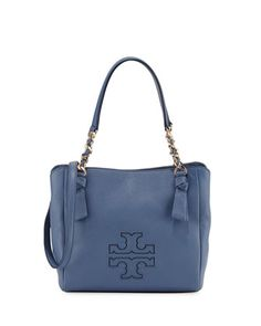 Harper Small Leather Satchel Bag by Tory Burch at Neiman Marcus.