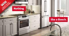 Don't miss your chance to win a Bosch Kitchen appliance package. https://www.facebook.com/boschcdn/app_257805421088757?ref=ts