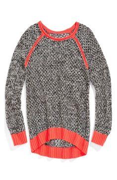 Tucker + Tate 'Lucia' Raglan Sleeve Sweater (Little Girls & Big Girls) | Nordstrom