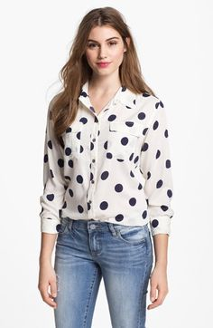 Two by Vince Camuto Polka Dot Shirt available at #Nordstrom