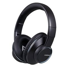 Ausdom Bluetooth Over Ear Headphones Wireless and Wired Headphone Comfortable Foldable Headset with Mic and Volume Control for Pc Mac SmartPhones Computers Men Kids GirlsBlack * Visit the image link more details.