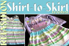QUICK Shirt-to-Skirt Refashion Tutorial - Great for beginners