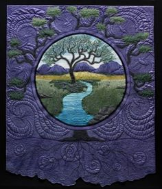 this is a quilt... i love tree of life stuff