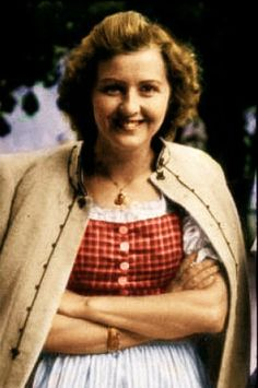 Eva Braun, Hitler's Girlfriend & Wife (for one day). Hitler and Braun committed suicide together as the Allies invaded Germany in WWII.