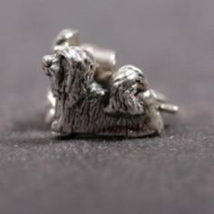 Lhasa Apso silver EARRINGS (studs)