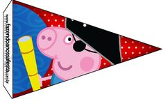 Bandeirinha Sanduiche George Pig Pirata (Peppa Pig):