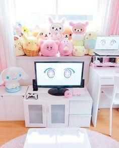 ideas diy decoracion habitacion friki for 2020 Room Ideas Bedroom, Girls Bedroom, Bedroom Decor, Bedrooms, Cute Room Ideas, Cute Room Decor, Home Music, Kawaii Bedroom, Pastel Room
