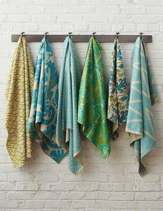 Lacefield Designs Aqua Ikat textiles #ikat #interiors  www.lacefielddesigns.com