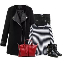 """""""Black leather ankle boots"""" by lenaick on Polyvore"""