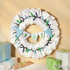 Diaper Wreath, Party Decoration U0026 Favor Ideas, Party Favors, Party Supplies    Oriental. Diaper WreathOriental TradingBaby Shower ...