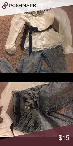 jeans jeans size 1 blouse size small Jeans Skinny