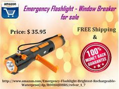Emergency Flashlight - Window Breaker for sale