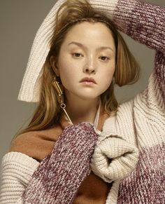 We haven't seen Devon Aoki in awhile, so it was a delight to see her in this lovely little autumnal story by Daniel Sannwald for the current issue of Pop magazine. Knits & layers & capes! O...