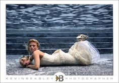 Underwater bridal photography by Jevin Beasley Photographer