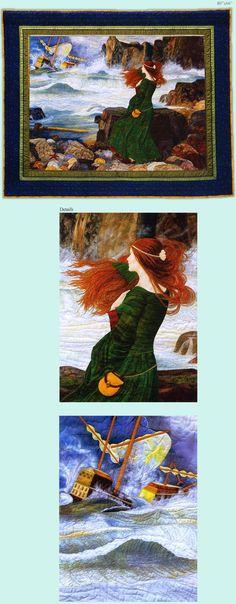 "Christine Fries-Ureel : Award Winning Quilt Artist ""Miranda: The Tempest"""