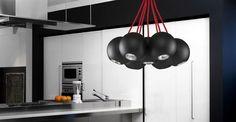 Lampa Wisząca Bubble Black-Red VII 6148 : Lampy wiszące metalowe : Sklep internetowy Elektromag Lighting #oświetlenie #kitchen #kuchnia #lampa