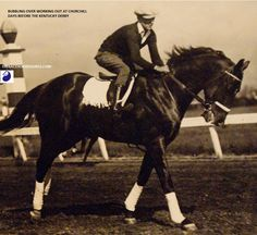 Bubbling Over, winner of the 1926 Kentucky Derby. At the time of his Derby victory Bubbling Over was losing his eyesight and nearly blind. He was retired soon after and went on to sire Kentucky Derby winner Burgoo King.