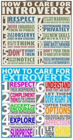 How to care for extroverts and introverts