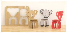PANDA CHAIR Cnc template cutting file wooden cardboard