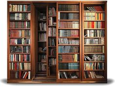 Aside from space-saving convenience, these are just so darn cool. You could secret away your most valuable tomes on the inner shelves.Get yours custom made from the Russian design firm ShkoM.
