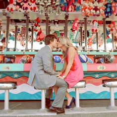 Themed Engagement Photos - Fun Engagement Photos | Wedding Planning, Ideas & Etiquette | Bridal Guide Magazine