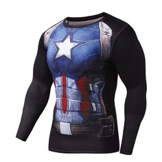 Marvel Fitness Compression Shirt Superman, Captain America, Batman, Spiderman, Iron Man, Crossfit Clothing Item Type: Tops Tops Type: Tees Gender: Men Sleeve Style: regular Style: Casual Hooded: No Ma