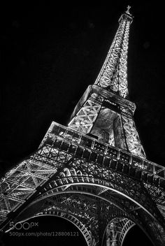 Stand Strong France - Pinned by Mak Khalaf Black and White attackseiffelfranceparisterrorterroristtower by geoffliving France Eiffel Tower, Stand Strong, Livingston, Shadows, Black And White, Photography, Travel, Staying Strong, Darkness
