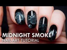 TUTORIAL: Midnight Smoke Nail Art Inspired by The Sorcerer Heir | Chalkboard Nails | Nail Art Blog