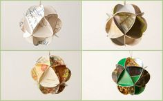 Geometric Upcycled Paper Greeting Card by TheRehatchery on Etsy, $72.00