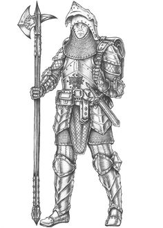 One of the PC's from my friend's open table campaign. He is fighter with one of the typical builds: Polearm master+Sentinel ----------------------------. Dungeons And Dragons Art, Dungeons And Dragons Characters, Fantasy Characters, Anime Characters, Forgotten Realms, Character Portraits, Old School, Coloring Pages, Medieval