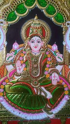 Tanjore Painting, Mysore Painting, Ganesha Painting, Hindu Rituals, Lord Vishnu Wallpapers, Jr Art, Krishna Art, Lord Krishna, Shiva
