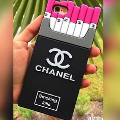 Chanel Cigarettes iPhone Case ✼ Available Chanel Cigarette case for iPhone 5/5s. We also have available for iPhone 6/6s/6+/6s+, check out our profile to buy it. Visit our website to see more colors and styles: www.elementaccessories.net and follow us on Instagram: @element.accessories Accessories Phone Cases