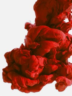 Another of Alberto Seveso's work- this photograph of ink in water captures the passion of romance through its vibrant red colour that represents energy and excitement.