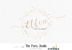 Gold Foil Stardust Logo Design stylist logo, website logo, blog log, boutique logo branding
