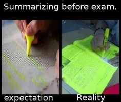 True! When it comes to last-minute cramming, everything seems important!