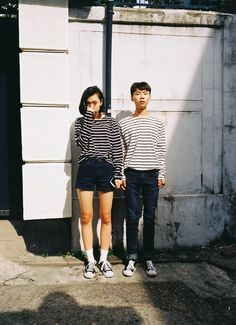 Korean Street Fashion for Couple Outfit - Nona Gaya Korean Street Fashion, Asian Fashion, Look Fashion, Fashion Outfits, Matching Couple Outfits, Matching Couples, Ulzzang, The Rok, Stylish Couple