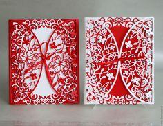 """Купить Приглашения на свадьбу """"Бабочки"""" - разноцветный, приглашения на свадьбу, свадьба, свадебные аксессуары, бумага"""