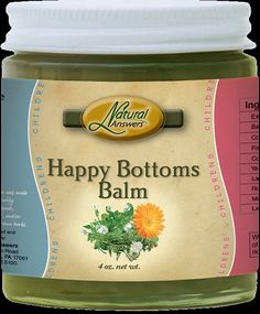 Happy Bottoms Balm  Gentle herbs infused in olive oil and combined with coconut oil and beeswax make up this lovely lavender scented salve to