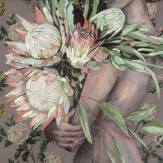 "Jessica Watts is an Australian based artist known for her layered oil and collage paintings. Shop from Jessica's signature series ""Wallflower"" available as original oil paintings on board or museum quality fine art prints. Protea Art, Feminist Art, Painting Wallpaper, Art Series, Mixed Media Painting, Australian Artists, Woman Painting, New Artists, Flower Art"